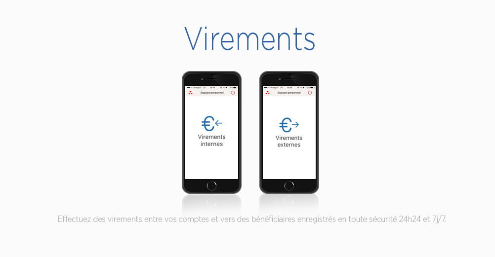 Applications mobiles Crédit Mutuel : Vos virements