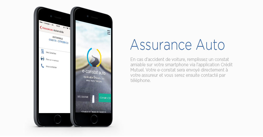 Applications mobiles Crédit Mutuel : Assurance Auto